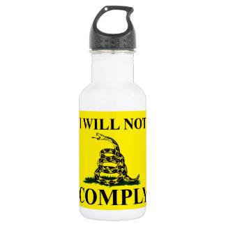 共産主義を拒否して下さい! ウォーターボトル