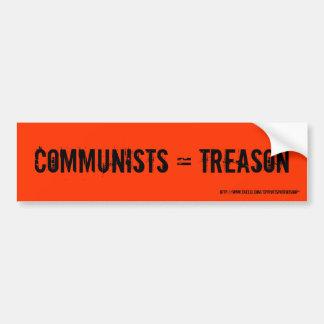 共産主義者=反逆 バンパーステッカー