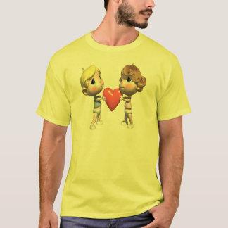 共用ハートのTシャツおよびギフト Tシャツ