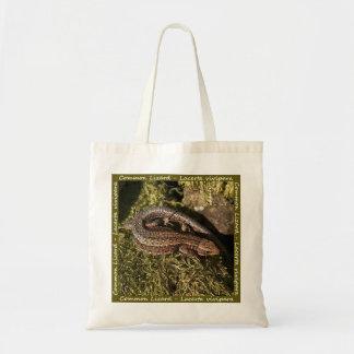 共通のトカゲのバッグ トートバッグ
