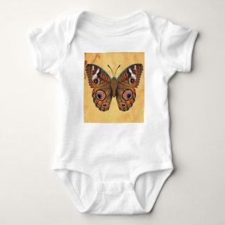 共通のバックアイズの蝶 ベビーボディスーツ