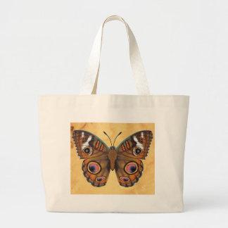 共通のバックアイズの蝶 ラージトートバッグ