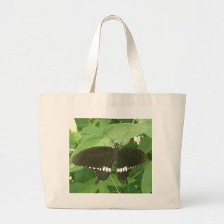 共通のモルモンの蝶トートバック ラージトートバッグ