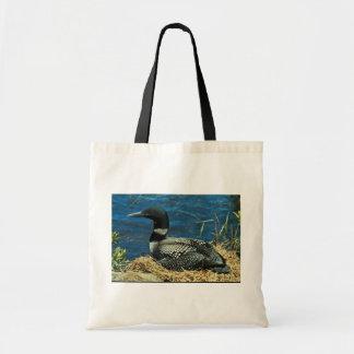 共通の水潜り鳥 トートバッグ