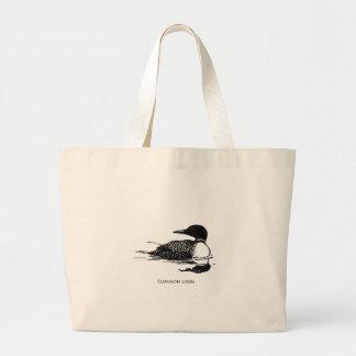 共通の水潜り鳥 ラージトートバッグ