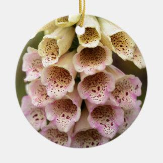 共通のFoxcloveは開花します(ジギタリスのpurpurea) セラミックオーナメント