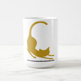 共通猫のロゴの黄色 コーヒーマグカップ