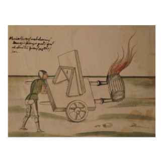 兵器、「De Machinis'からのイラストレーション ポストカード
