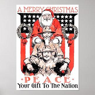 兵士のクリスマスのギフト ポスター