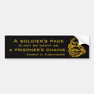 兵士のパックまたは囚人の鎖 バンパーステッカー