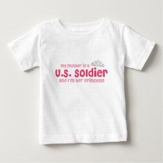 兵士のプリンセス(母) ベビーTシャツ