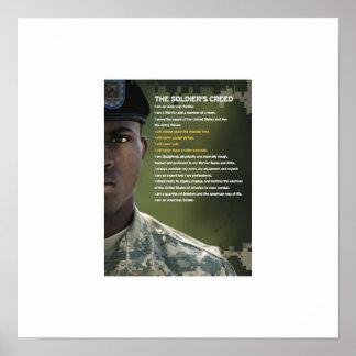 兵士の信条ポスター23x23 ポスター
