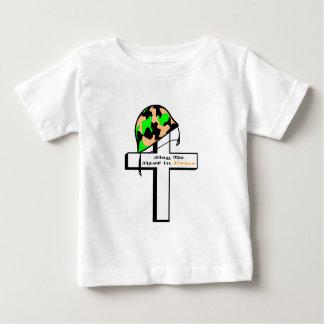 兵士の帽子及び十字 ベビーTシャツ