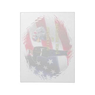 兵士の旗のメモ帳(2)のサイズ ノートパッド