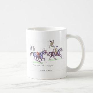 兵士トレバーが付いているTentpeggingのおもしろいな漫画 コーヒーマグカップ