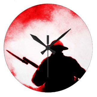 兵士 ラージ壁時計