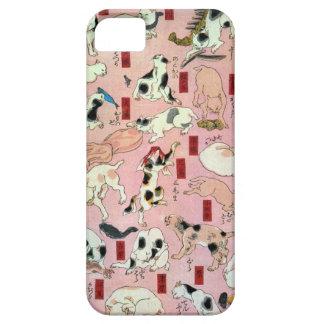其のまま地口猫飼好五十三疋の(の上の)、国芳猫(1)、Kuniyoshi、Ukiyo-e iPhone SE/5/5s ケース
