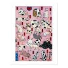 其のまま地口猫飼好五十三疋の(の下の)、国芳猫(3)、Kuniyoshi、Ukiyo-e ポストカード