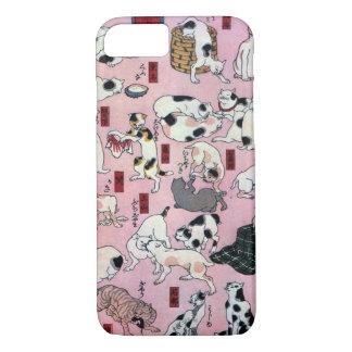 其のまま地口猫飼好五十三疋の(の下の)、国芳猫(3)、Kuniyoshi、Ukiyo-e iPhone 7ケース