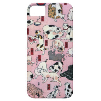 其のまま地口猫飼好五十三疋の(の下の)、国芳猫(3)、Kuniyoshi、Ukiyo-e iPhone SE/5/5s ケース