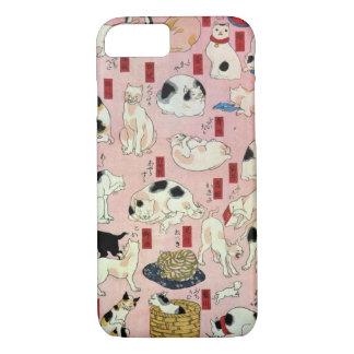 其のまま地口猫飼好五十三疋の(の中の)、国芳猫(2)、Kuniyoshi、Ukiyo-e iPhone 8/7ケース