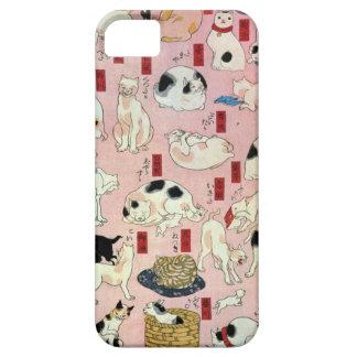 其のまま地口猫飼好五十三疋の(の中の)、国芳猫(2)、Kuniyoshi、Ukiyo-e iPhone SE/5/5s ケース