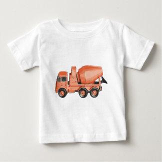 具体的なオレンジセメントのおもちゃのトラック ベビーTシャツ