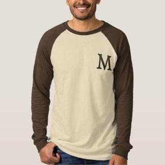 具体的なモノグラムの手紙M Tシャツ