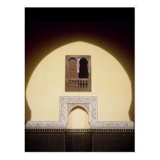 典型的なモロッコの窓 ポストカード