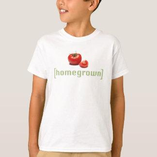 内地産のトマトのおもしろいな野菜庭師のしゃれ Tシャツ