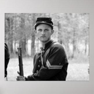 内戦の再制定-連合兵士 ポスター