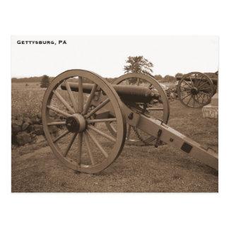 内戦の大砲、Gettysburg、PA ポストカード