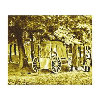 内戦の戦場で使用される最初カメラ キャンバスプリント