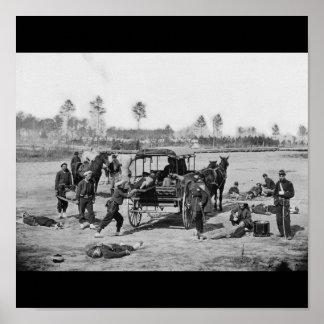 内戦の救急車の乗組員 ポスター