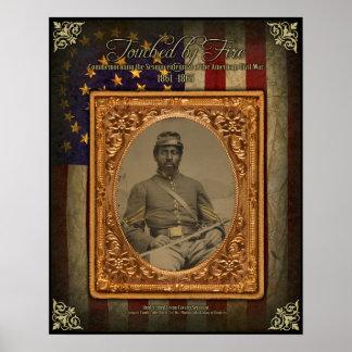 内戦のAfrcanのPosterアメリカの騎兵隊の下士官 ポスター