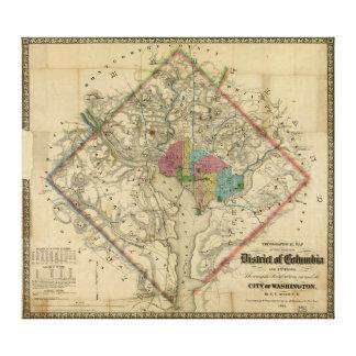 内戦時代の地図コロンビア特別区 キャンバスプリント