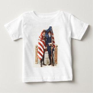 内戦米国の旗連合同盟兵士 ベビーTシャツ