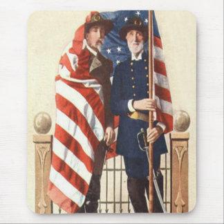 内戦米国の旗連合同盟兵士 マウスパッド