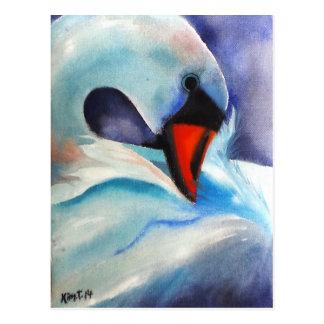 内気で白い白鳥(キンバリーTurnbullの芸術) ポストカード