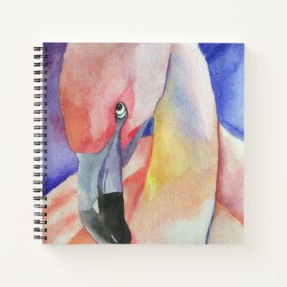 内気なフラミンゴ(キンバリーTurnbullの芸術) ノートブック