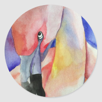 内気なフラミンゴ(キンバリーTurnbullの芸術) ラウンドシール