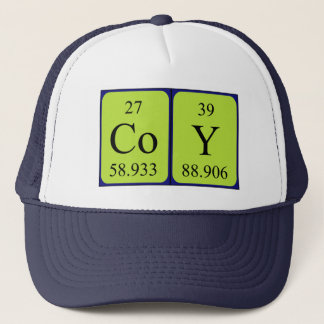 内気な周期表の名前の帽子 キャップ