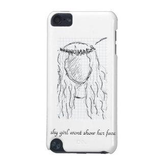 内気な女の子は彼女の顔を示しません iPod TOUCH 5G ケース