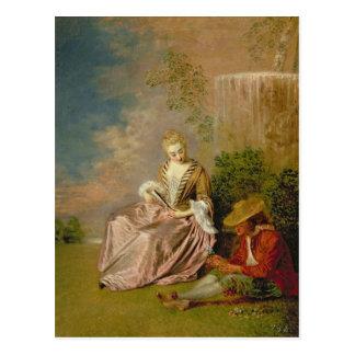 内気な恋人1718年 ポストカード