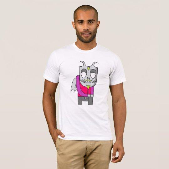 内気な悪魔のイラストレーション Tシャツ