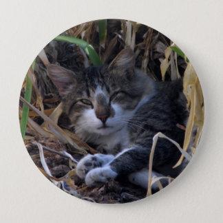 内気な男の子猫ボタン 10.2CM 丸型バッジ
