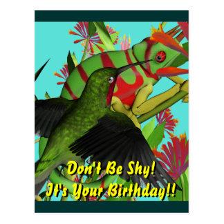 内気な誕生日があないで下さい ポストカード