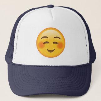 内気に微笑の顔- Emoji キャップ