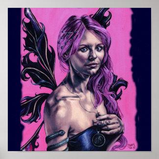 内省のゴシック様式faeryのアートワークポスター ポスター