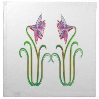 内省的な双生児の花の絵の芸術のギフト ナプキンクロス